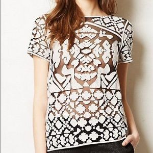 Anthropologie Everleigh Rococo Embroidered Top!!!